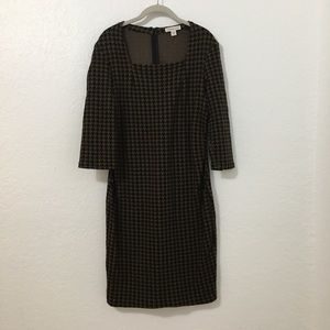 Coldwater Creek Houndstooth Dress